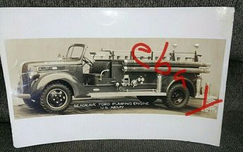 $14.96 or best offer Vintage Seagrave Ford US Army Pumping Engine Fire Truck Photo Firefighter #vintage #collectibles #homedecor