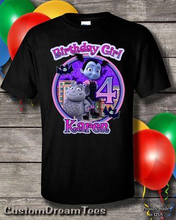 d9d0d7016 Vampirina Birthday Shirt, Vampirina Custom Shirt, Personalized Vampirina  Shirt, Vampirina family shirts,