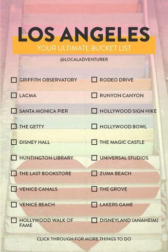 Ultimate Los Angeles Bucket List (101 Things to Do in LA)