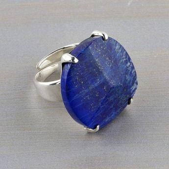 Large Lapis Lazuli Stone Ring