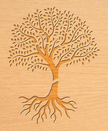 7 Tree Stencil, Wall Decal, Patterns, Laser, CNC Router, Stencil Templates, Room Decor | Dxf, Svg, J