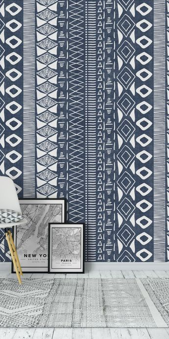 Adobe in Blue Wall Mural / Wallpaper Abstract