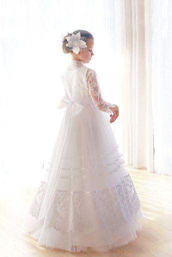 68bbd595cc Communion dress-white communion dress-lace communion bolero-Handmade in  Europe-Flower