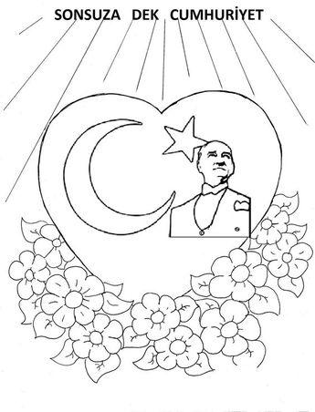 Ata Türk Tekerleme Atatürk Boyama Sayfaları 10 Kasım B