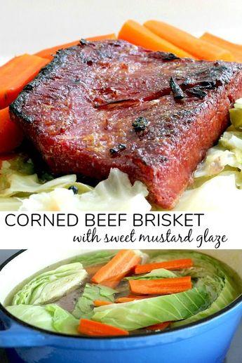 Corned Beef Brisket with a Mustard Glaze
