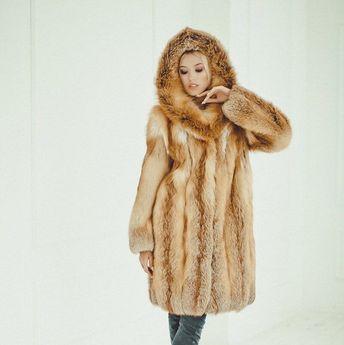 4f5b4dfe1 Red fox fur long coat Fur jacket for women Fox winter coat Oversized  Аnniversary gift Fur