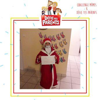 Oh-Oh-Ohhhh !! Le gagnant de notre Challenge Défie Tes Parents est le petit père Noël d'Estelle ! Trop chou !