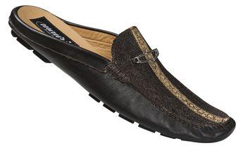 "Mauri - ""3136"" Dark Brown Highway Stingray/Nappa Half Shoe"