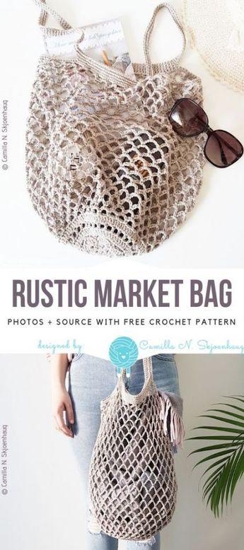 34 trendy sewing patterns bags free crochet baskets #crochet #sewing