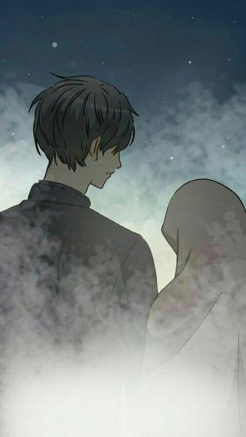 Download 7300  Gambar Animasi Pasangan Romantis Islami  Gratis