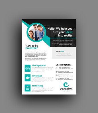 Atlanta Modern Professional Flyer Template - Graphic Templates