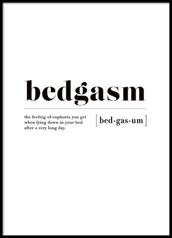 Bedgasm Poster in the group Prints / Sizes / 30x40cm | 12x16 at Desenio AB (3345)