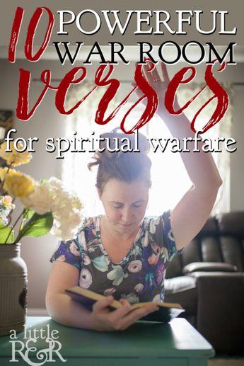 10 Powerful War Room Verses on Spiritual Warfare