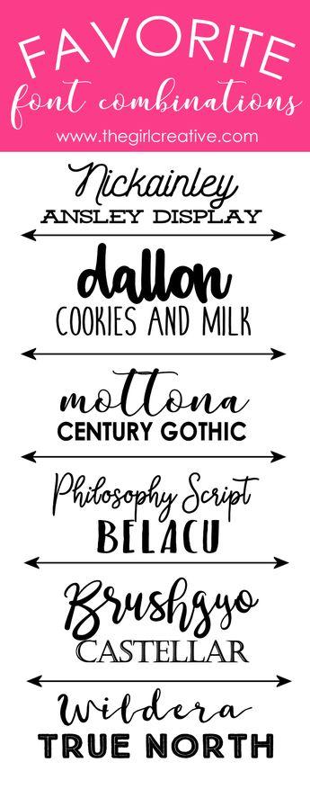 Favorite Font Combinations - Volume 2