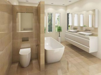Home Decorating Ideas Bathroom The wall-faced toilet with concealed cistern is Jeffrey (by William Douglas),