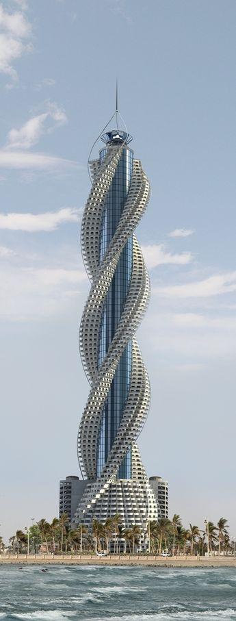 Diamond Tower, Jeddah, Saudi Arabia designed by Buruoj Engineering Consultant :: 93 floors, height 432m :: on hold