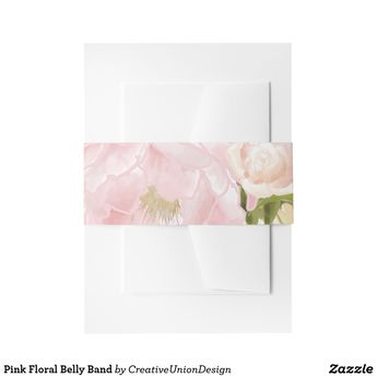 Pink Floral Belly Band | Zazzle.com