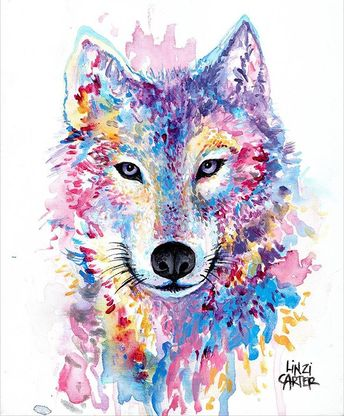"""💙""""Arctic Wolf""""💙 Amazing artwork by @linzicarterart support her! Art maded for stylist @theglamwhisperer Inspo: @oraclefoxblog Perth, Australia Tag your friends!👇👇#onlyartworks"""