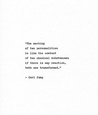 Carl Jung Hand Typed Quote 'Both Are Transformed' Philosophy Print Friendship Gift Love Print Romant