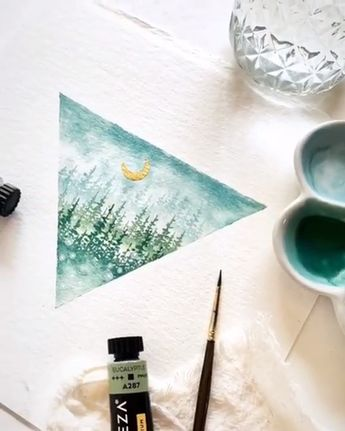 What geometric shapes would you like to create with your #Arteza #Watercolor Paint?  Artist Credit: @wolfandbear.co