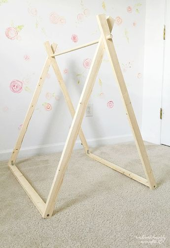 DIY A Frame Tent - Farmhouse Indoor Style Kids Camping Room