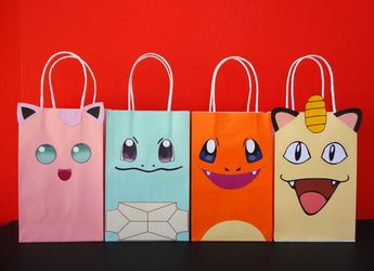 Pokemon Favor Bags Party Birthday Favors Goodie Goody