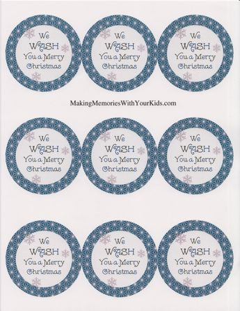 image relating to We Wash You a Merry Christmas Free Printable identify We Clean By yourself A Merry Xmas Cleaning soap Reward Tag, Neighbor Present-