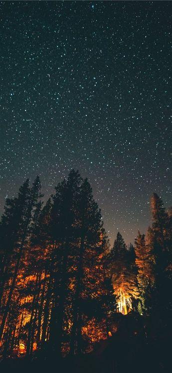 nightlight iPhone X wallpaper #night #sky #star #explore