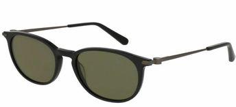 c2f33636c68 Brioni Black Acetate Pantos Shape Green Lens Sunglasses BR0015S-001