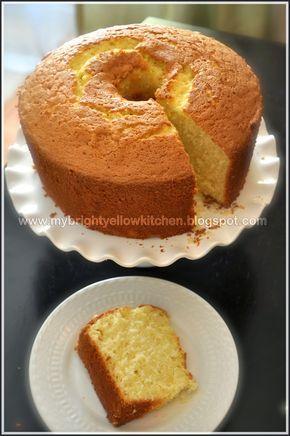My Bright Yellow Kitchen: Auntie Nel's Pineapple Chiffon Cake