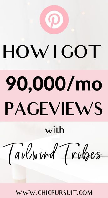 How I got 5 Million Pageviews On Pinterest With Little Effort - Learn how to grow Pinterest traffic and achieve blog growth! This ultimate Pinterest course & Tailwind Tribes strategy planner is for you if you've tried everything with Pinterest but gotten zero results! Increase Pinterest views, learn Pinterest marketing strategies , Pinterest SEO, Pinterest tips, how to use Tailwind Tribes and how to get Pinterest traffic to your blog! #pinterestmarketingstrategies #pinterestmarketing #tailwi