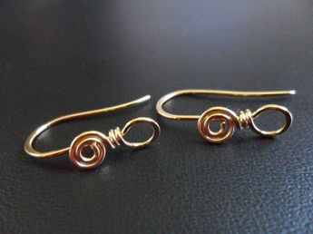 Swirl Loop Ear Wires Choose from Sterling Silver, Oxidized Sterling, Stainless Steel, Copper, Oxidized Copper or NuGold