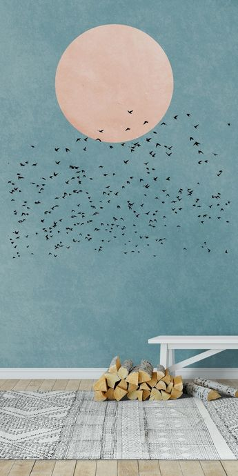 Fly away Wall Mural / Wallpaper Abstract