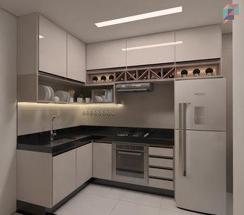 """597 """"Μου αρέσει!"""", 24 σχόλια - Idear • Design de Ambientes (@idearambientes) στο Instagram: """"Terminando o final de semana com essa lindeza de cozinha! A fita de led embaixo do armário ilumina…"""""""