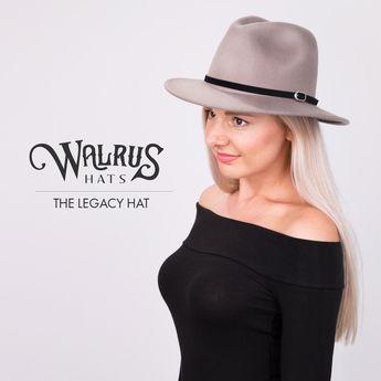 Compass - Walrus Hats Olive Diamond Crown Wool Felt Fedora ae3ee276cfb4