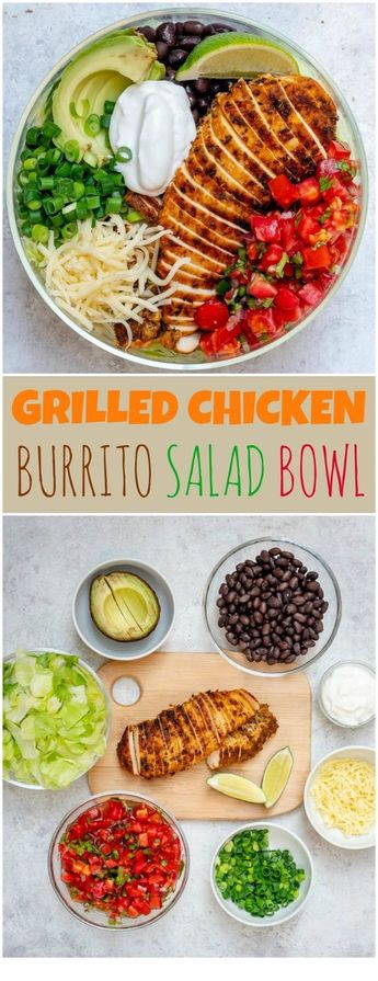 Grilled Chicken Meal Prep Bowls 4 Creative Ways for Clean Eating! | RECIPES JOHN