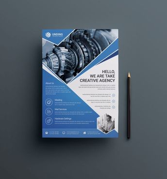Industry Professional Business Flyer Design Template 001522