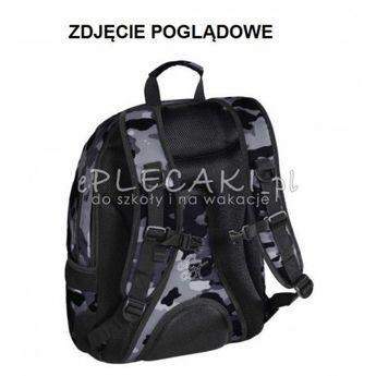 5d140a8afd625 Czarny plecak gładki do szkoły 3 przegrody Hama dla chłopaka na laptopa