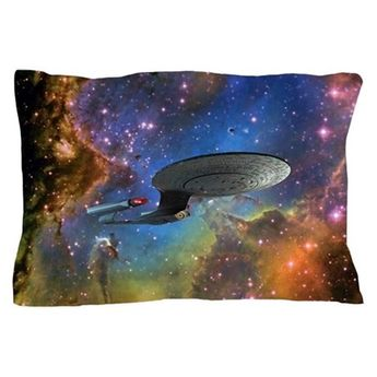 STARTREK 1701D EAGLE NEBULA Pillow Case