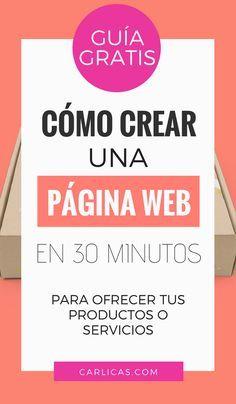 Cómo hacer tu blog o página web profesional en 1 hora
