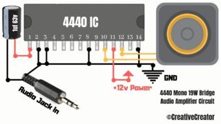 How to Make a Simple Powerful Audio Amplifier With 4440 IC
