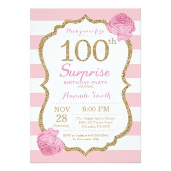 ballerina baby shower pink and gold glitter invitation