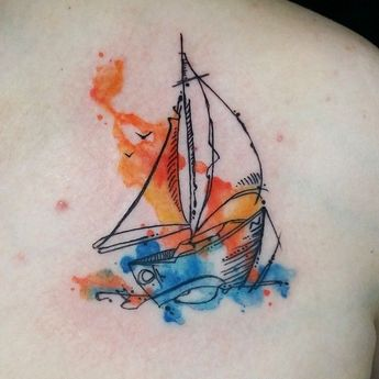 2fb5ed87a Watercolor tattoo – Shelly DeAngio on Instagram: