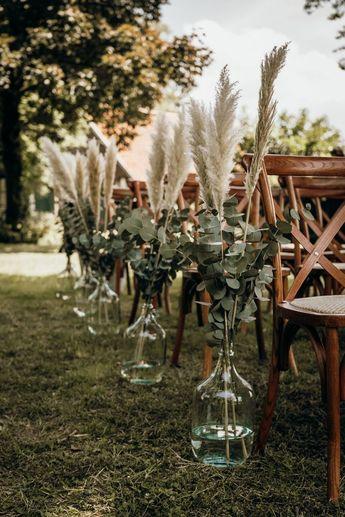 mariage d'herbe de pampa