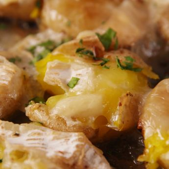 Brie Smashed Potatoes