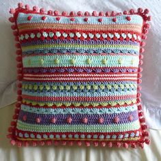 Mixed Stitch Stripey Blanket pattern by Julie Harrison