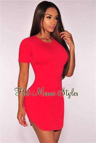 867daf89637 Red Curved Hem Dress. Red Curved Hem Dress. 7w 0. More Details · FlyQueens  Pinterest Account. FlyQueens  flyqueens. Lookin Like a Milli Bodycon Dress  - Dark ...