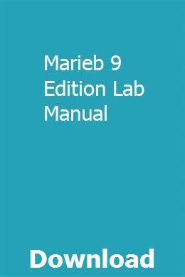 Marieb 9 Edition Lab Manual