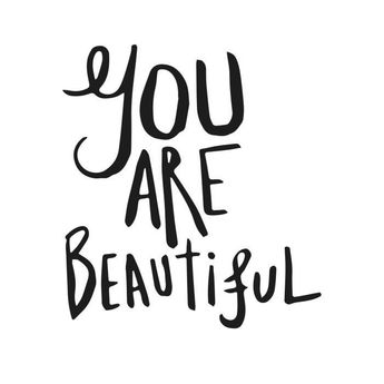 WALL IMPACT Sticker adhésif mural You Are Beautiful - 30 x 33 cm