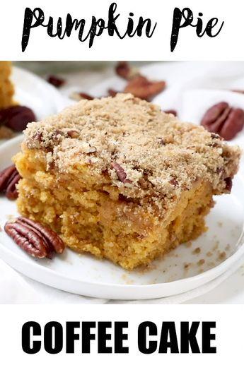 Pumpkin pie coffee cake